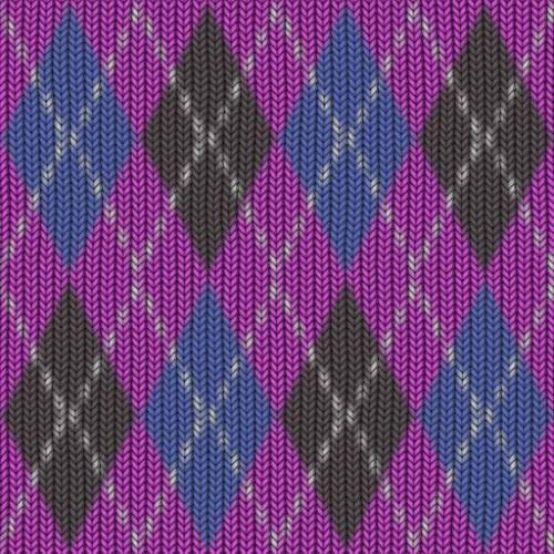 Ромбиком вязание